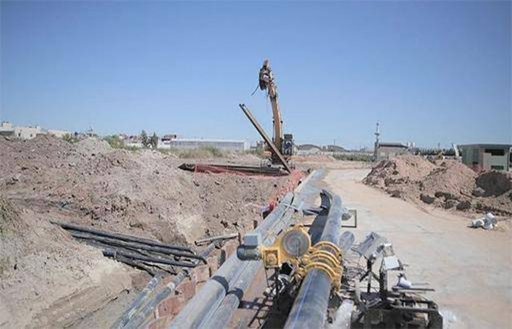 ACUMAR avanza con las obras en el Parque Industrial Curtidor Lanús