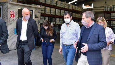 Fernando Moreira y Guillermo Merediz recorrieron la empresa Molinos Tarquini