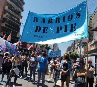 Corte en el Puente Pueyrredón por una marcha de organizaciones sociales y de izquierda