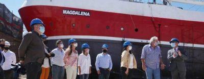 Schale visitó astilleros en Mar del Plata y realizó anuncios para la industria naval