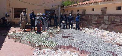 La Quiaca: Decomisan bebidas alcohólicas valuadas en $216.000