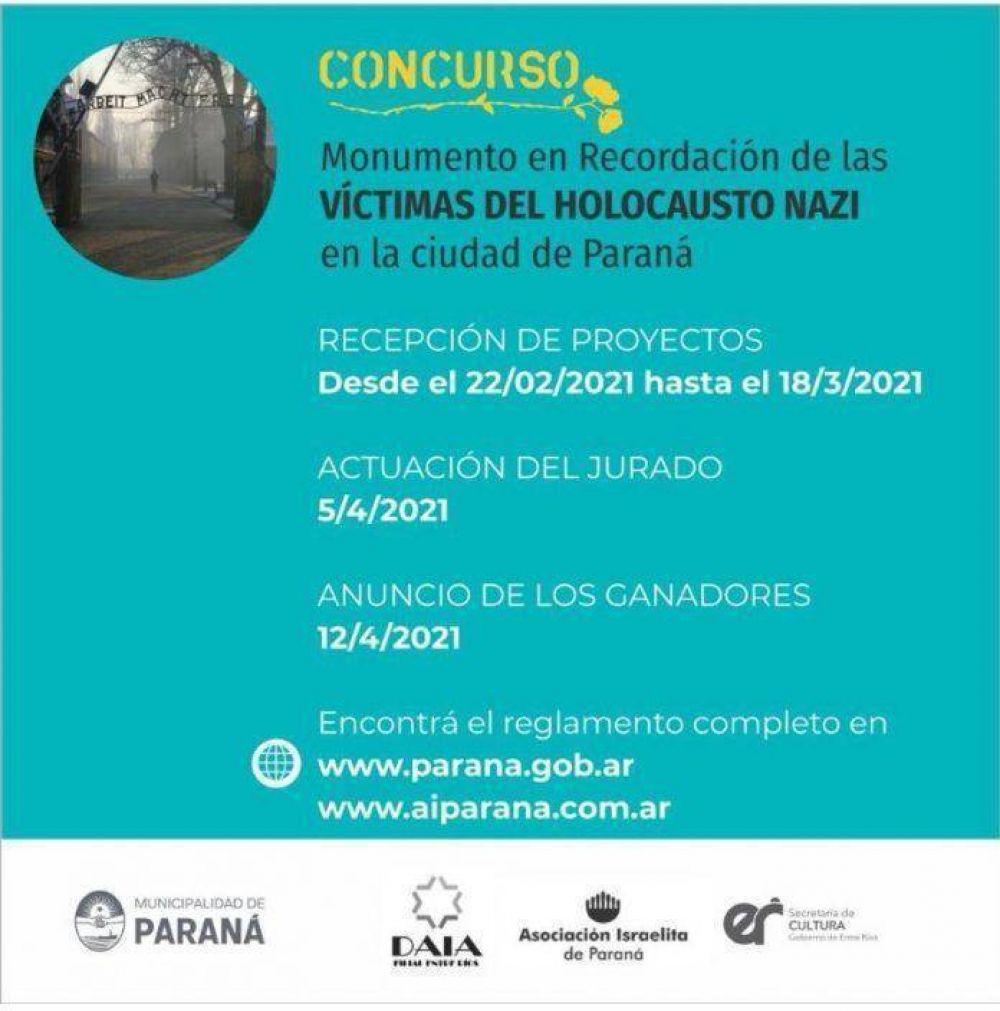 Comenzó la recepción de proyectos para la construcción del monumento a las víctimas del Holocausto nazi en Paraná.