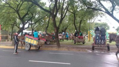 Carreros y recicladores se movilizan para pedir una reunión con autoridades