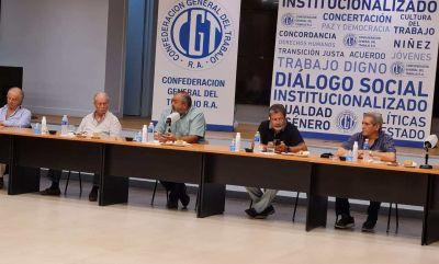 Nueva reunión de CGT: gestos de unidad, a la trayectoria de Ginés y a la continuidad de Zanarini