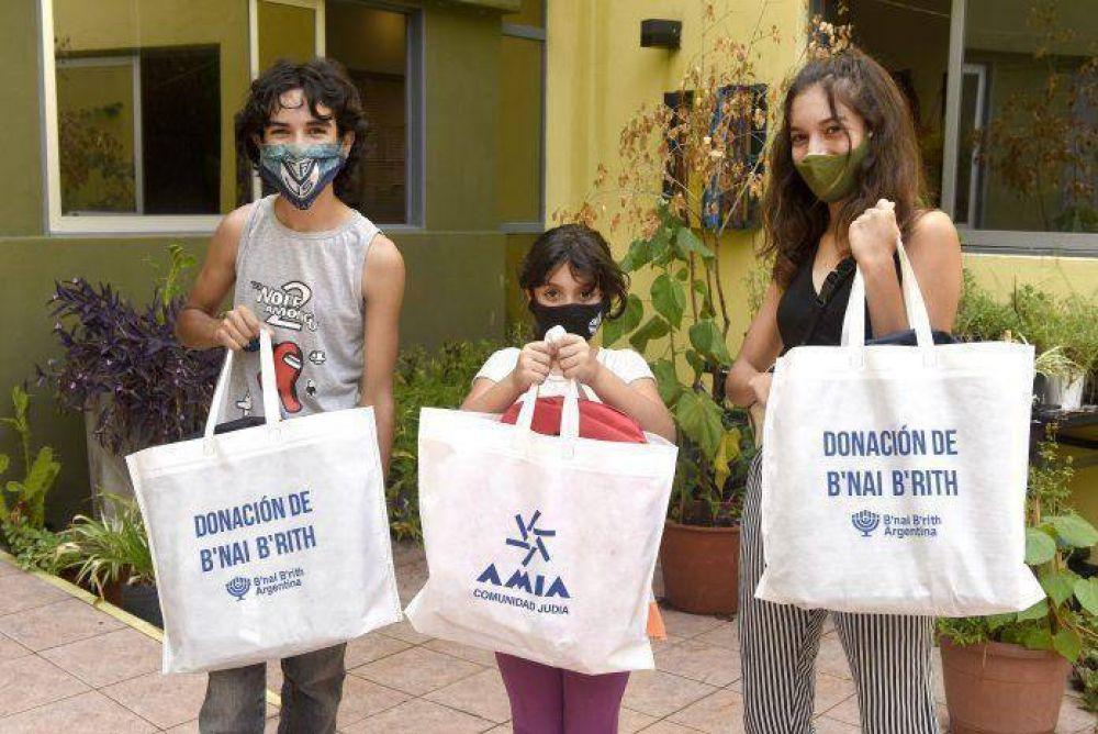 AMIA y B'nai B'rith Argentina firmaron un acuerdo para asistir a la población más vulnerable