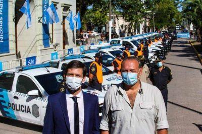 Mantegazza y Berni presentaron 27 patrulleros para San Vicente