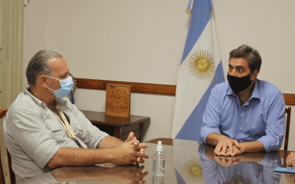 El intendente Boto recibió en Luján a Sergio Berni