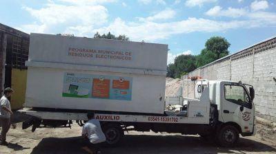 Carlos Paz juntó más de 1600 kilos de residuos electrónicos en los últimos cuatro meses