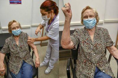 Argentina llegó al millón de vacunados con una mujer de 90 años