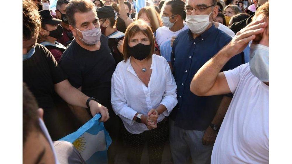 Manifestación opositora en Plaza de Mayo: el repudio de Alberto Fernández y la postura de Patricia Bullrich