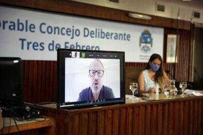 Aislado por Covid, Valenzuela inauguró un nuevo período de sesiones en Tres de Febrero y cuestionó la vacunación vip