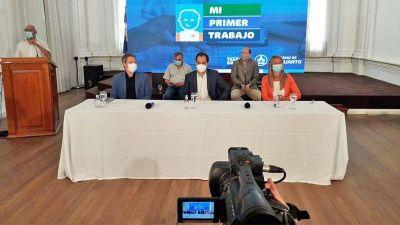 Llamosas lanzó un programa de 500 empleos para jóvenes