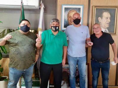 Reunión de Pablo Moyano con los compañeros de FATAGA