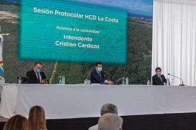 Cristian Cardozo encabezó la sesión protocolar N° 1 del Honorable Concejo Deliberante del Partido de La Costa