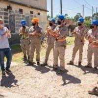 Junto a Galmarini, Cascallares inauguró red de agua potable