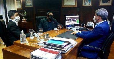 El gobernador Sergio Uñac se reunió con Marcelo Mena Muñoz de ASIJEMIN