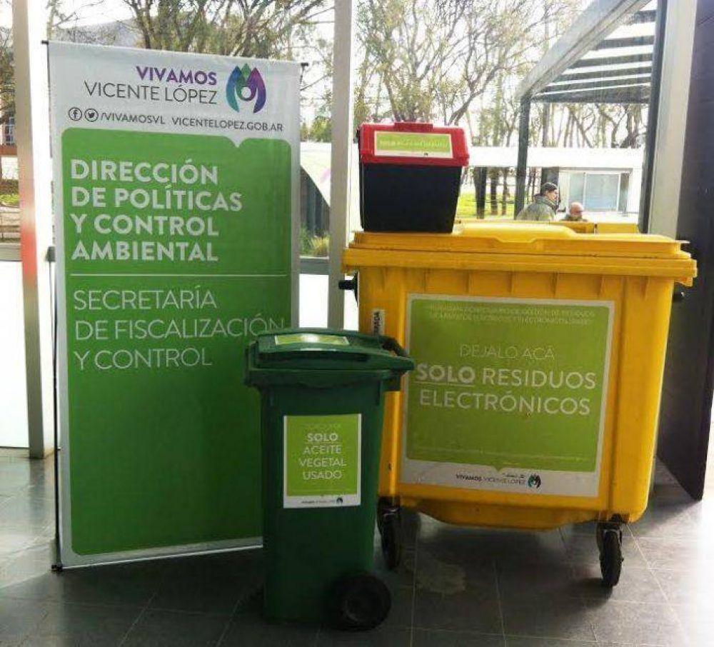 Reciclado: ¿Dónde llevar las pilas, el aceite usado y los residuos electrónicos en Vicente López?