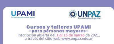 Inscripción a cursos y talleres UPAMI en la UNPAZ