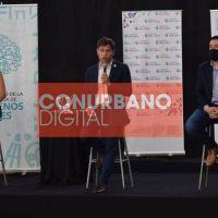 """Kicillof y Nardini lanzaron el programa """"Comprá más cerca"""" desde el polideportivo de Los Polvorines"""
