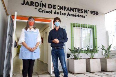 Andreotti inauguró el renovado Jardín Nº 930 del barrio Crisol