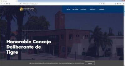 El Concejo Deliberante de Tigre presentó su sitio web oficial