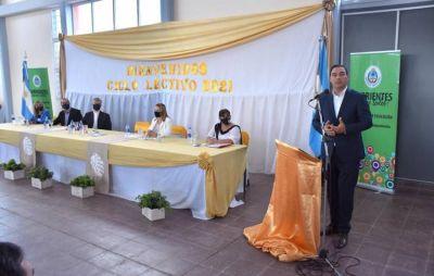 Valdés inauguró el edificio de la Secundaria Sargento Cabral de Santo Tomé