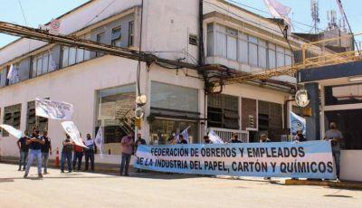 La Federación de Obreros y Empleados de la Industria del Papel, Cartón y Químicos anunció un paro por 48 hs. ante la falta de acuerdo salarial