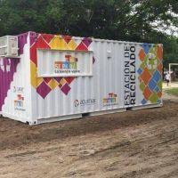 Cómo funcionan las estaciones de reciclaje de Ezeiza