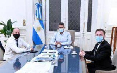 Insaurralde con Massa: Brindó su apoyo al proyecto de modificación de la escala del Impuesto a las Ganancias