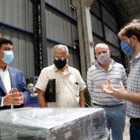 San Justo: el Embajador de Cuba recorrió las instalaciones de una fabrica metalúrgica junto al intendente