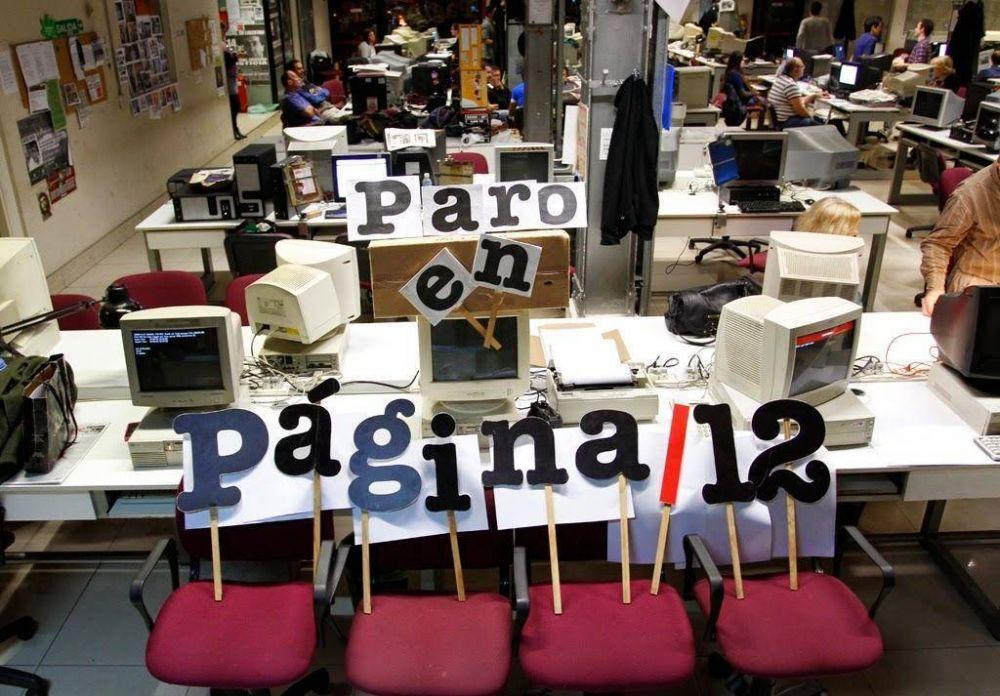 Mientras confirma aumento para los encargados de edificio, Víctor Santa María tiene un nuevo paro en Página/12