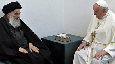 En un guiño al islam chiita, Francisco se reunió con el gran ayatollah Ali al-Sistani