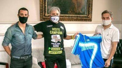 Abella recibió a Osmar González tras participar del Primer Campeonato Argentino de Ultra Ciclismo