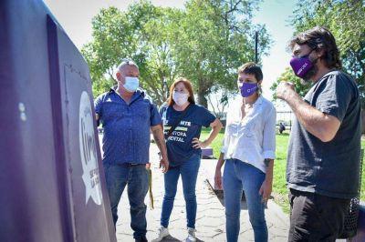 """Mayra Mendoza junto a Grabois presentó el programa """"Quilmes Recicla"""" en la Ribera"""