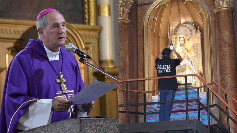 Dolor y repudio de Jorge Lugones por el robo en la Catedral de Lomas de Zamora: