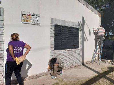 Obras de pintura para cinco escuelas de San Nicolás