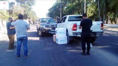 Chocó el ministro de Salud de Corrientes: viajaba con dos cajas de vacunas contra el Covid-19