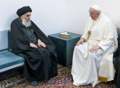 Encuentro histórico entre el Papa Francisco y el Gran Ayatolá Ali al Sistani en Nayaf