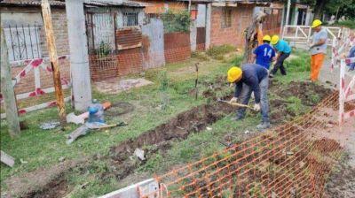San Justo: comenzó la ejecución de obras de agua potable en el barrio Puerta de Hierro