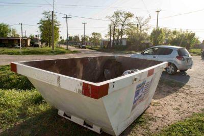 Patio Limpio: Los volquetes estarán en la zona del Barrio 25 de Mayo