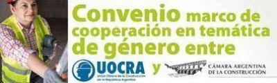 La UOCRA firmó un convenio de cooperación en temas de género con la Cámara de la Construcción