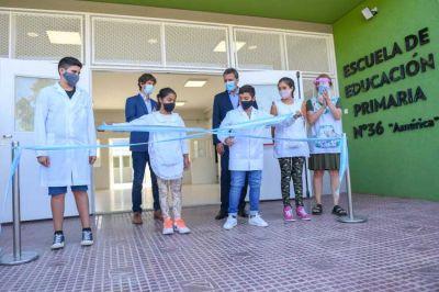 Juan Andreotti y Sergio Massa inauguraron las renovadas Escuelas Primaria N°36 y Secundaria N°11