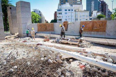 Cruce entre Llaryora y la UCR por la obra de Plaza España