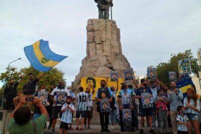 Miembros de la Iglesia Maradoniana de Mar del Plata pidieron justicia por Diego