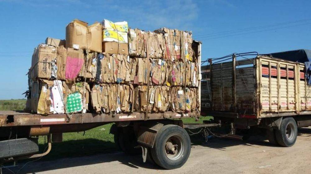 Tordillo: realizaron operativo de venta de materiales reciclables