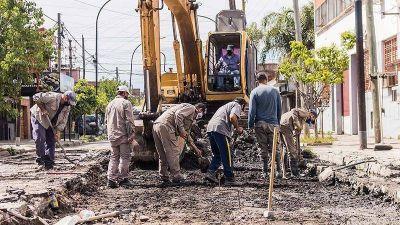 Obras: Continúan los trabajos de repavimentación en Lanús Oeste