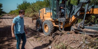 El municipio encara importantes trabajos de mantenimiento en Las Praderas