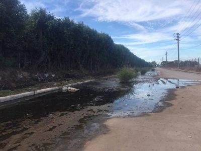 Cómo sigue la obra de la avenida Los Inmigrantes que ahora está tapada de agua en su último tramo