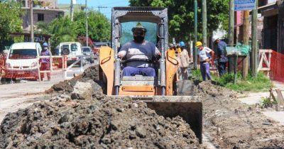 Cloacas: avanza en Budge la obra que beneficiará a miles de vecinos