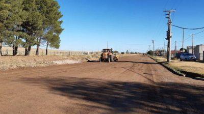 Avanzan las obras de reparación de calles en Tornquist